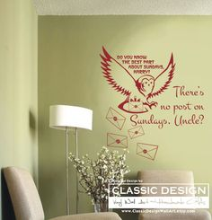 Vinyl Wall Decal There's NO POST on by ClassicDesignWallArt