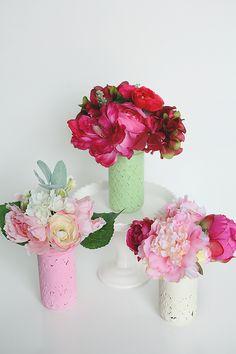 Easy spring floral arrangements