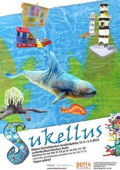 Näpsä-käsityökoulun Sukellus-näyttely Rullassa 2014