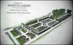 Original design for the Medieval Garden, circa 1999