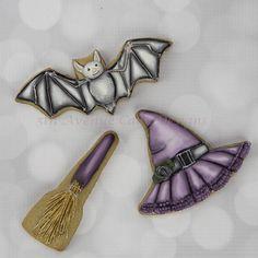 Decorated Dimensional Vintage Halloween Cookies