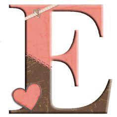 CH.B *✿* Alfabeto de San Valentin....E Cartoon Elephant, Bald Hair, Letter E, Alphabet And Numbers, Joy And Happiness, Erika, Orange Color, Valentino, Frames