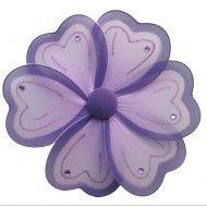 Purple Nylon Flowers for Girls Nursery Design