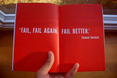 fail better - samuel beckett