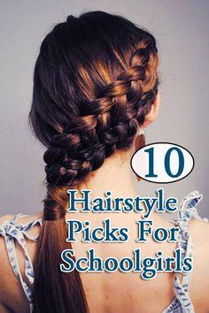 Top 10 Hairstyle For Schoolgirls