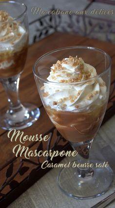 Mousse mascarpone vanille et pommes