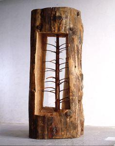 【F】木の中に木。彫るの大変そう