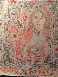 Scarlet wich A2 Scarlet, Princess Zelda, Drawings, Fictional Characters, Art, Sketches, Craft Art, Sketch, Kunst