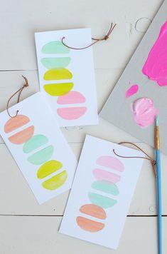 DIY Macaroon print stamps