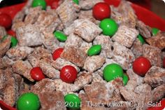 Holiday Muddy Buddies! A perfect snack, made even perfect-er! :)