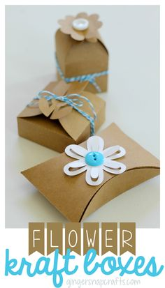 Flower Kraft Boxes {tutorial}