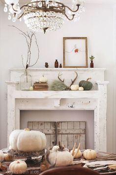 fall antler décor