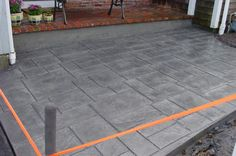 pictures of stamped concrete patios Stamped Concrete Driveway, Concrete Patio Designs, Cement Patio, Concrete Steps, Concrete Driveways, Concrete Slab, Flagstone, Back Patio, Backyard Patio