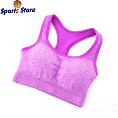 Professional Gym Women Seamless Racerback Padded Sports Bra Yoga Fitness Stretch Workout Tank Top