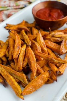 Slimming Eats Perfect Oven Baked Sweet Potato Fries - gluten free, dairy free, vegetarian, paleo, Whole30, Slimming World and Weight Watchers friendly