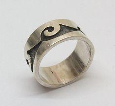 Silberring 925 Ring Silber breit Größe 204 Size von Schmuckbaron