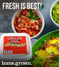 salsa from our New Hampshire pals at Mitchell's Fresh! Mild Salsa, Hampshire, Artisan, Fresh, Ethnic Recipes, Food, Sweet Salsa, Hampshire Pig, Essen