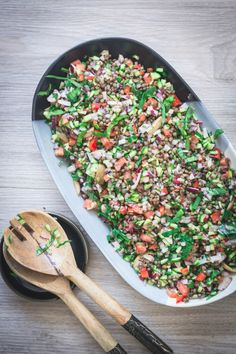 A vibrant, fresh and healthy salad using Australian grown French green lentils Lentil Salad Recipes, Vegetarian Recipes, Healthy Recipes, French Salad Recipes, Green Lentil Salad, French Green Lentils, Salad Dishes, Healthy Salads, Recipes