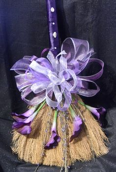 Purple PassionDecorative Wedding Broom with by tendermomentsllc