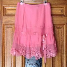 "Spotted while shopping on Poshmark: ""HOST PICK! Betsey Johnson Pink Lace Skirt""! #poshmark #fashion #shopping #style #Betsey Johnson #Dresses & Skirts"