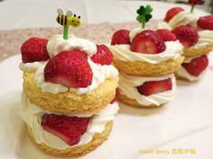 草莓鮮奶油蛋糕塔