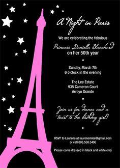 60 best paris invitations images on pinterest paris party paris a night in paris party invitations filmwisefo