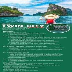 5 DAYS TWIN-CITY SIEM REAP - BANGKOK PACKAGE (Land Arrangement Only) Minimum of 2 persons  For more inquiries please call: Landline: (+63 2) 8 282-6848 Mobile: (+63) 918-238-9506 or Email us: info@travelph.com #Cambodia #Thailand #TravelPH #TravelWithNoWorries Siem Reap, Twin Cities, Cambodia, Twins, Thailand, Packaging, City, Cities