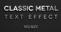 Classic Metal Text Effect - Freebies - Fribly