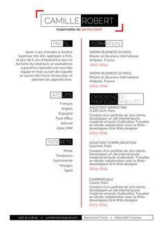 Engagé - Un CV type photographe avec les détails rouge-orangés!