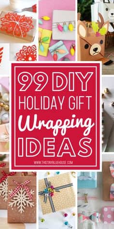 Genius DIY Holiday Wrapping Ideas Stun friends and family with these gorgeous creative gift wrap ideas Set your gifts apart with these budget friendly 90 DIY Holiday Wrap. Diy Christmas Wrapping Paper, Diy Christmas Gifts, Christmas Projects, Handmade Christmas, Holiday Crafts, Holiday Fun, Christmas Holidays, Christmas Ideas, Christmas Decor