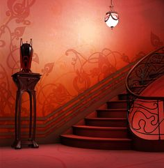 I can imagine people descending this staircase in evening clothes from the 20's - I don't know where this is from, but it is a wonderful design