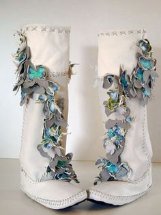 Wedding Boots Blanket of Butterflies Deborah Cracchiolo  ✪ CracchioloDesigns TEE-PEE-TOES