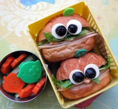 really cute sandwich ideas on this site.  if i were a kid, i'd eat them!  so fun