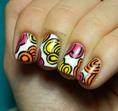 Neverland Nail Blog: Abstract Freehand Loops!