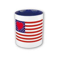 Heart Love USA Mug by elenaind