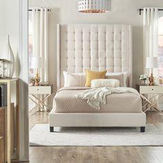 DIY or Buy: Tufted Headboard – Master Bedroom White Headboard, Wingback Headboard, Tall Headboard, Glam Master Bedroom, Home Decor Bedroom, Bedroom Ideas, Luxury Home Furniture, Rustic Furniture, Modern Furniture