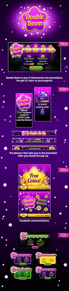 Renew Double Boom by Noa Brumberg Ui Buttons, Gambling Games, Game Ui, Mobile Game, Slot Machine, Online Casino, Adobe Photoshop, Art Direction, Overlay