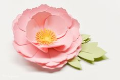 Detailed instructions on how to assemble the Flowers: Daffodil, Tiger Lily, Poppy, and Peony 3d Paper Flowers, Paper Peonies, How To Make Paper Flowers, Giant Paper Flowers, Diy Flowers, Fabric Flowers, Flower Svg, Flower Template, Origami