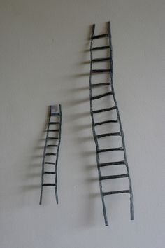 RESERVED for Amy - handmade ladders for your wall Contemporary Sculpture, Great Gifts, Sculptures, Hair Accessories, Ladders, Climbing, Amy, Handmade, Spirit