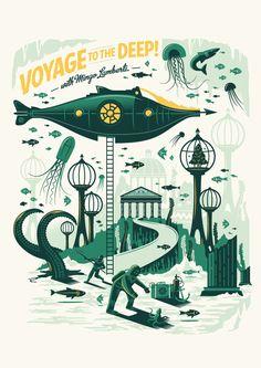 Mingo Lamberti - Tales of the Sea - Adam Hill / Velcrosuit - Graphic Design & Illustration