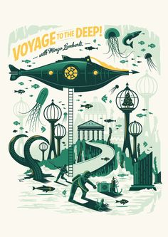 Mingo Lamberti - Tales of the Sea - Velcro Suit - The Graphic Design and Illustration of Adam Hill