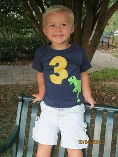 Boys Birthday Shirt Boys Number Shirt by aHouseintheWoods