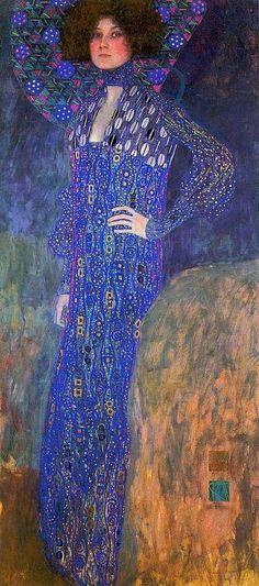 Gustav Klimt. Portrait of Emilie Flöge 1902