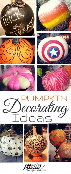 Forget carving! There are tons of fun pumpkin decorating ideas for Halloween and fall at theMagicBrushinc.com