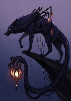 Wild Fantasy: Animal Paintings by Jade Merien Fantasy Artwork, Creature Art, Art, Wolf Art, Animal Paintings, Fantasy Wolf, Monster Art, Dark Fantasy Art, Mythical Creatures Art