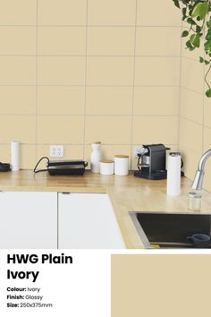 Want your kitchen or washroom to not just become another corner in your lovely home? Get your hands on these gloss ivory ceramic wall tiles with a beautiful glow that works really well for contemporary decor spaces in your home. Serviceable in Southern India Price: ₹41/sq.ft or ₹440/sq. metre. See the tile in your space with the Trialook visualiser tool. #wall #tiles #kitchen #homedecor #bathroom #wallaccent #ideas #tilestyle #minimal Kitchen Wall Tiles, Ceramic Wall Tiles, Kitchen Decor, Buy Tile, Style Tile, Color Tile, Washroom, Contemporary Decor, Your Space