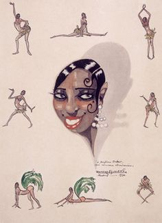 Josephine Baker - Probably a Le Vie Parisienne illustration