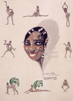 Josephine Baker - Probably a Le Vie Parisienne illustration