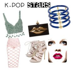 """""""k pop with lines"""" by tabitha-escoe ❤ liked on Polyvore featuring Rosie Assoulin, Carvela, Charlotte Olympia, Elizabeth and James and kpop"""