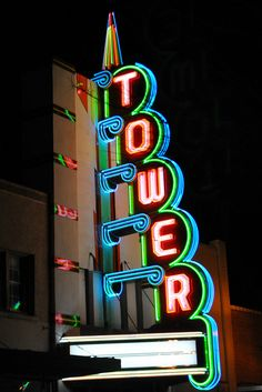 Tower Theatre ~ Deco Neon Sign http://www.flickr.com/photos/25726169@N03/4486276659/